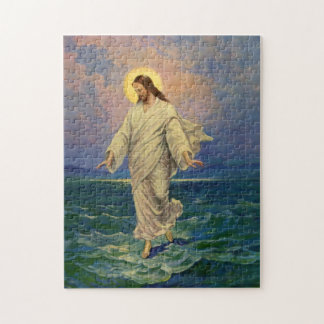 Vintage Religion, Jesus Christ is Walking on Water Puzzles