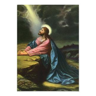 Vintage Religion, Jesus Christ Praying, Gethsemane Custom Announcement