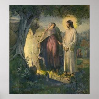Vintage Religion, Jesus Christ Risen by Tomb Poster