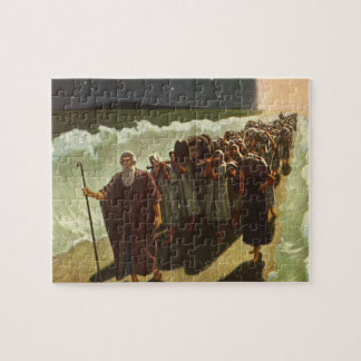 Vintage Religion, Moses Crossing of the Red Sea Jigsaw Puzzle