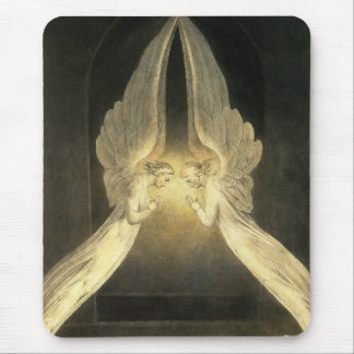Vintage Religion, Portrait of Angels Praying Mouse Pad