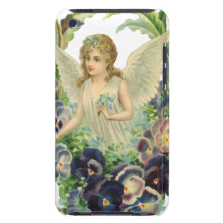 Vintage Religion, Purple Pansy Flower Easter Angel iPod Touch Cover