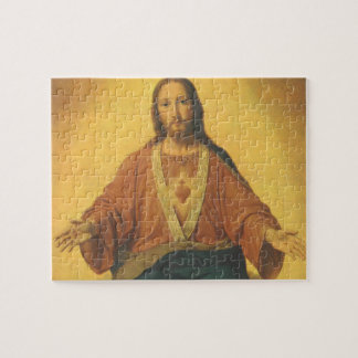 Vintage Religion, Sacred Heart of Jesus Christ Jigsaw Puzzle