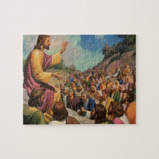 Vintage Religion, the Sermon on the Mount Jigsaw Puzzle