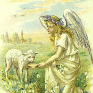 Victorian easter angel gifts on zazzle au vintage religion victorian easter angel with lamb gift box negle Gallery