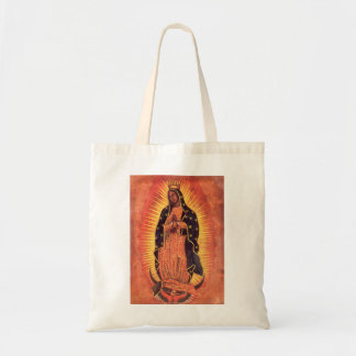Vintage Religion, Virgin Mary, Lady of Guadalupe Tote Bag