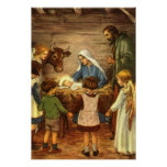 Vintage Religious Christmas, Nativity, Baby Jesus Posters