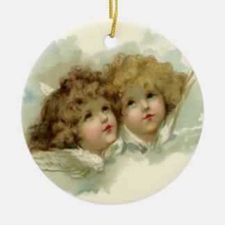 Vintage Religious Christmas Victorian Angels Christmas Ornament
