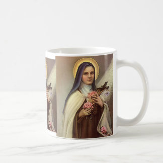 Vintage Religious Easter, Nun with Cross Coffee Mug
