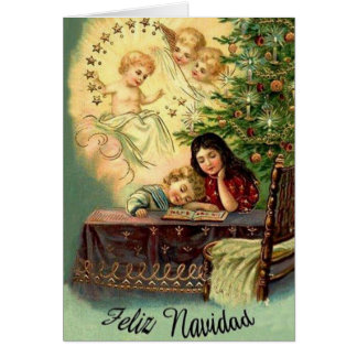 Vintage Religious Hispanic / Latino Christmas Card