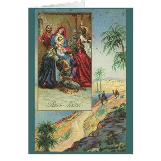 Vintage Religious Italian Christmas Card