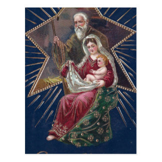 Vintage Religious Mary and Baby Jesus Christmas Postcard