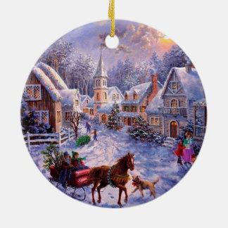 Vintage Religious Nativity Christmas ornament