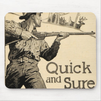 Vintage Remington Rifle Ad Gun Quick Sure Mousepad