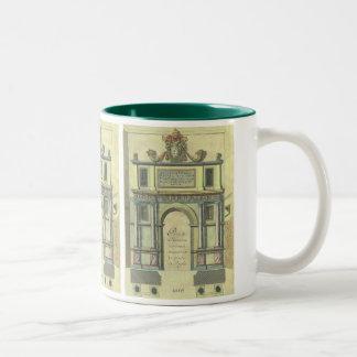 Vintage Renaissance Architecture Church Door Entry Two-Tone Mug