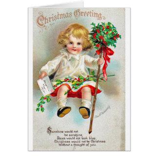 Vintage Reproduction Christmas Art Greeting Card