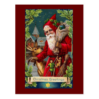 Vintage Reproduction Christmas Art Postcard
