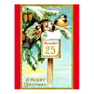 Vintage Reproduction December 25 Postcard