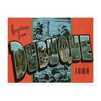 Vintage Reproduction Dubuque, Iowa Postcard