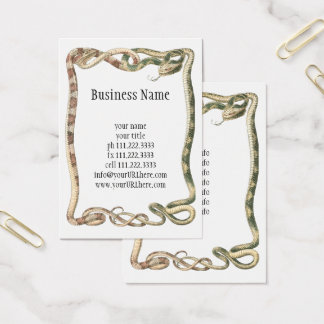 Vintage Reptiles, Entwined Snakes or Vipers Border Business Card