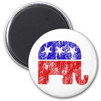 Vintage Republican Elephant GOP 6 Cm Round Magnet