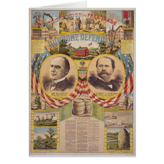 Vintage Republican Party Presidential Campaign Greeting Card
