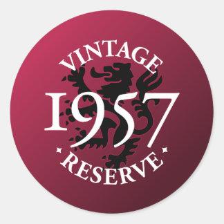Vintage Reserve 1957 Classic Round Sticker