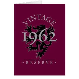 Vintage Reserve 1962 Card