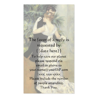 Vintage Response Card, City Dance by Renoir Pack Of Standard Business Cards