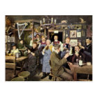 Vintage Restaurant Bar People Celebrating Party Postcard