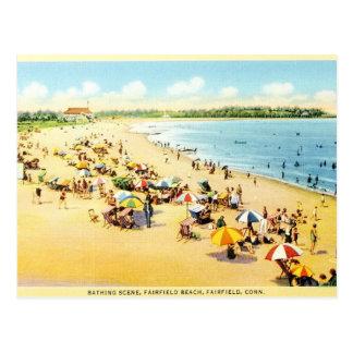 Vintage Restoration Connecticut Beach Postcard