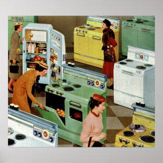 Vintage Retail Business, Appliance Showroom Shop Poster
