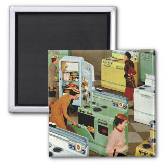 Vintage Retail Business, Appliance Showroom Store Square Magnet