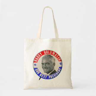 Vintage Retro 1964 Goldwater For President Button Budget Tote Bag