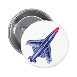Vintage Retro 50s Jet Airplane Rocket Club Pin