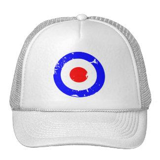 Vintage Retro Aged Mod Target Trucker Hat