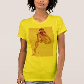 Vintage Retro Alberto Vargas Redhead Pin Up Girl T Shirts