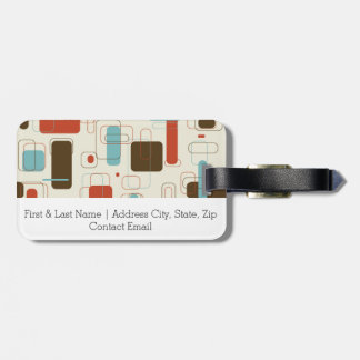Vintage Retro Art Deco Pattern Luggage Tag