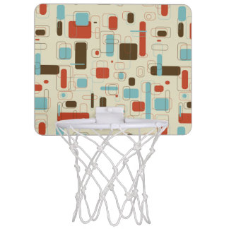 Vintage Retro Art Deco Pattern Mini Basketball Hoop