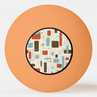 Vintage Retro Art Deco Pattern Ping Pong Ball