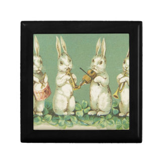 Vintage Retro Art Easter Bunny Bunnies Orchestra Gift Box