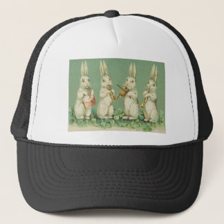 Vintage Retro Art Easter Bunny Bunnies Orchestra Trucker Hat