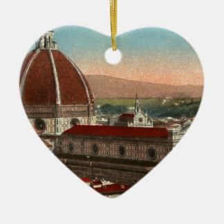 Vintage Retro Art Florence Italy Italia Cathedral Ceramic Ornament