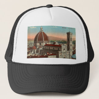 Vintage Retro Art Florence Italy Italia Cathedral Trucker Hat