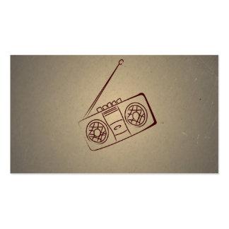 Vintage Retro Audio Cassette Player. Antique Paper Business Card