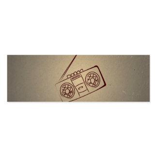 Vintage Retro Audio Cassette Player. Antique Paper Business Card Template
