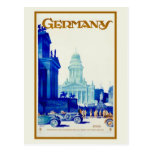 Vintage retro Berlin Germany travel ad Postcard