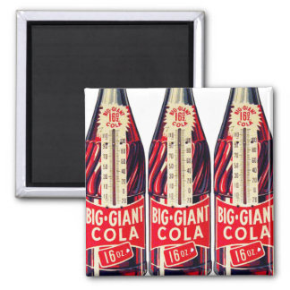 Vintage Retro Big Giant Soda Bottle Thermometer Magnet