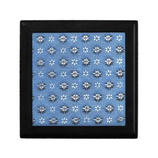 Vintage Retro Blue Floral Pattern Gift Boxes