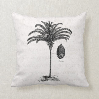 Vintage Retro Brazilian Palm Tree Template Palms Cushion